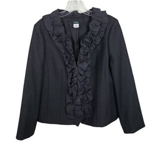 J CREW Charcoal Wool Pleated Chimera blazer 10